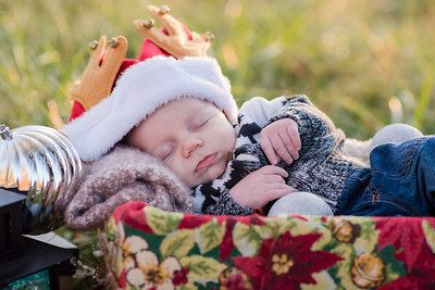 Nathan's First Christmas Photos