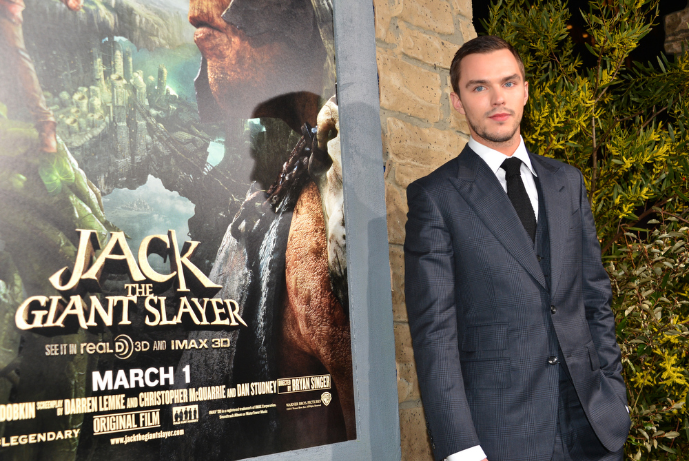 """. Actor Nicholas Hoult attend the premiere of New Line Cinema\'s \""""Jack The Giant Slayer\"""" at TCL Chinese Theatre on February 26, 2013 in Hollywood, California.  (Photo by Alberto E. Rodriguez/Getty Images)"""