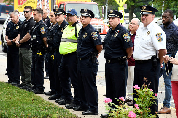 6/1/2018 Mike Orazzi | Staff The Bristol Police fallen officer ceremony held on North Main Street Friday.