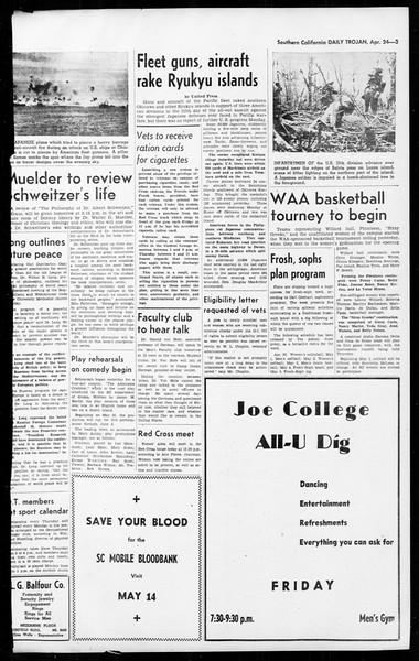 Daily Trojan, Vol. 36, No. 107, April 24, 1945