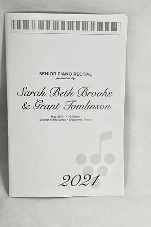 5-25-2021 Sarah Beth & Grant Senior Recital @ GPA