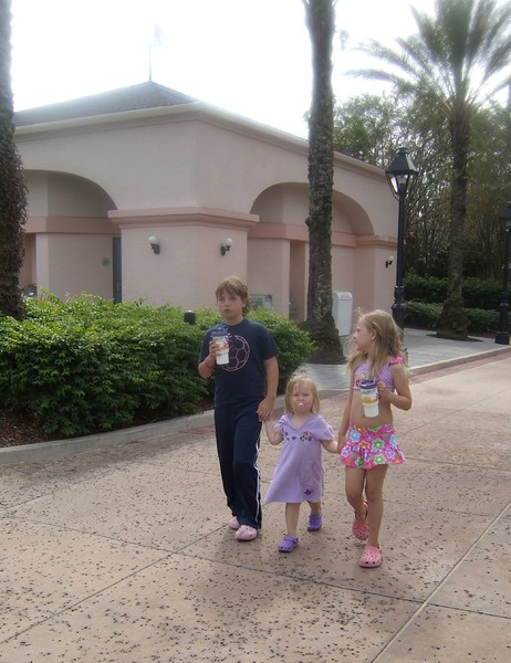 walking to the pool