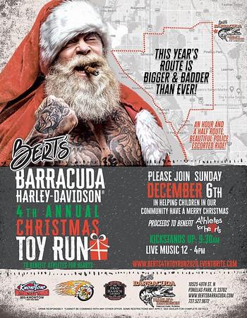 Bert's Barracuda H D Christmas Toy Run