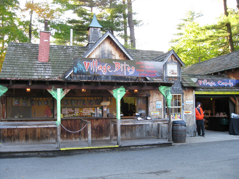 Lumberjack Ice Cream was turned into the Village Bites concession.