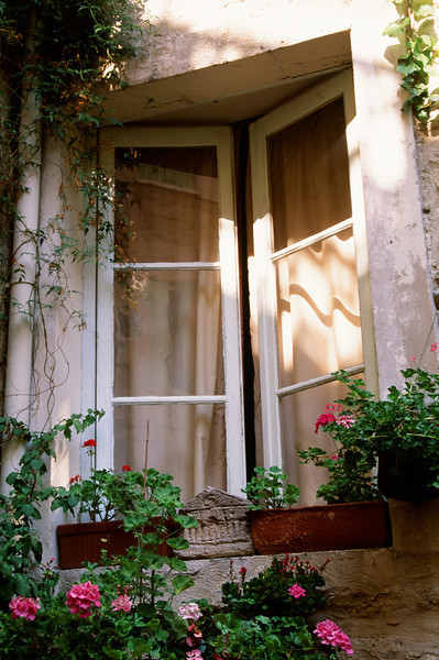 From the Courtyard of an Arles Pension