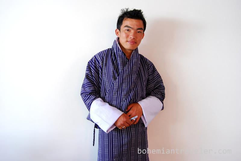 Man wering Bhutanese Gho.jpg