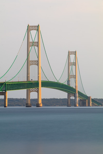 Mackinac Bridge long exposure.
