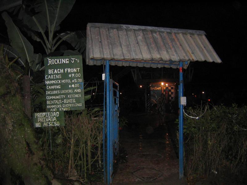 back entrance to hostel