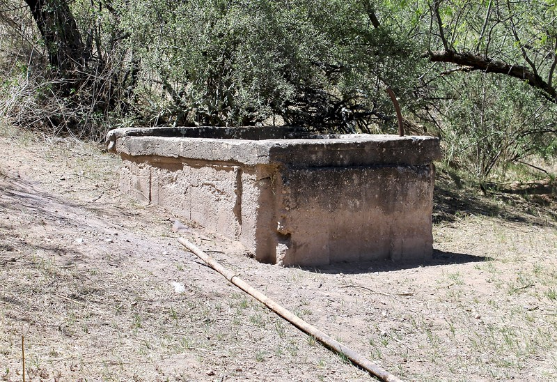Old well at the Pinal City townsite (2018)