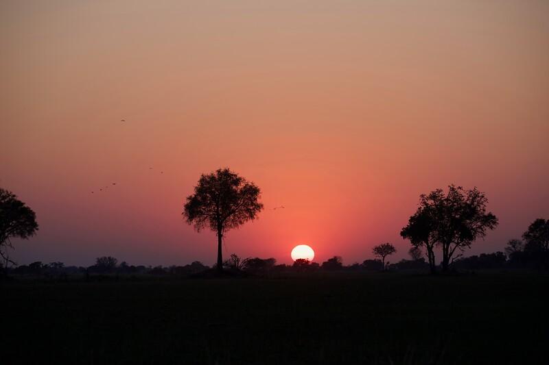 sunset, Shinde camp, Botswana