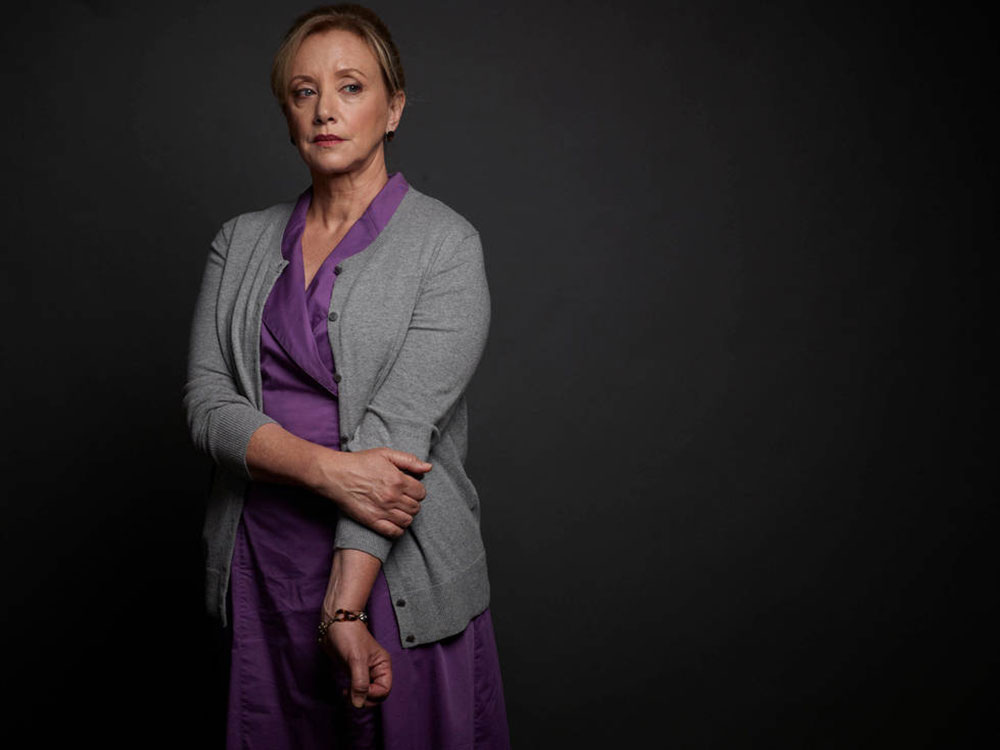 """. J. Smith Cameron as Janet Talbot, Daniel\'s mom, in \""""Rectify\"""" The Sundance Channel"""
