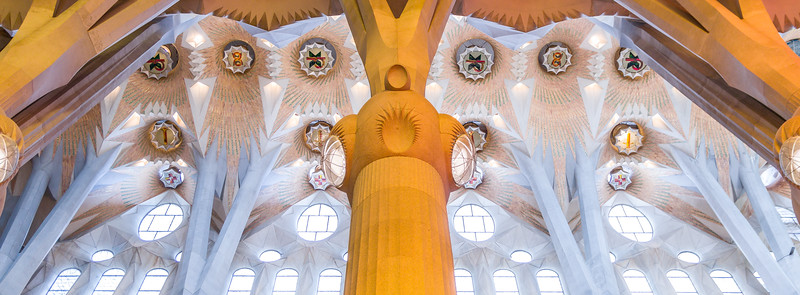 Nave central de la Sagrada Familia