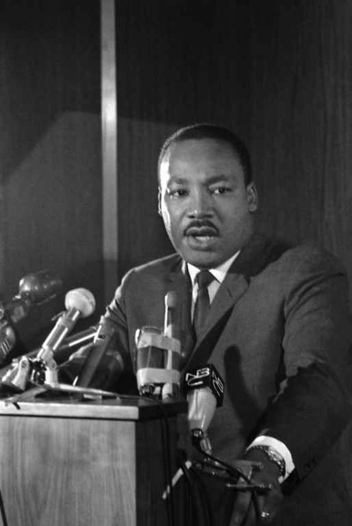 . Dr. Martin Luther King Jr. as he arrives to testify before the National Advisory Commission on Civil Disorders in Washington on Oct. 23, 1967. (AP Photo/Charles Tasnadi)