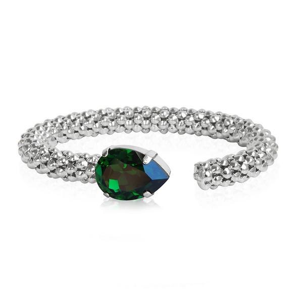 Classic Rope Bracelet / Dark Moss Green / Rhodium
