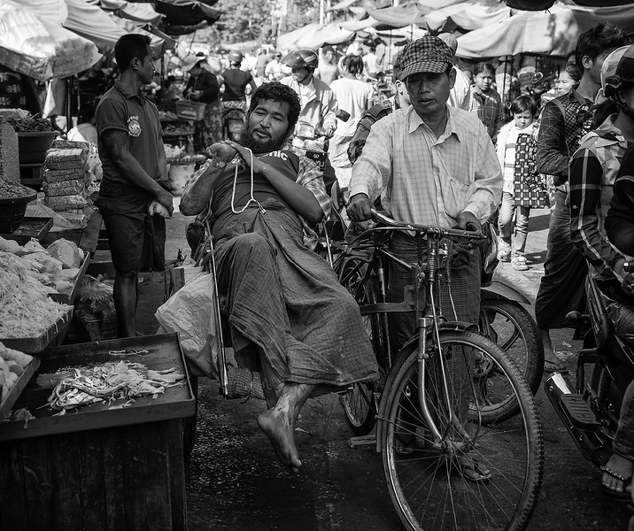 Scene at the food market in Mandalay.  Myanmar, 2017.