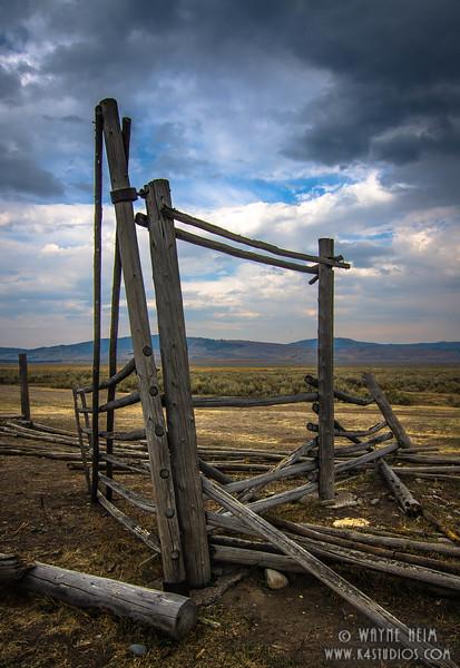 Broken Fence  photography by Wayne Heim