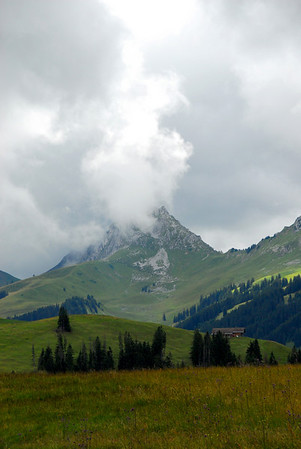 Hiking in the Alps near Jaun Pass