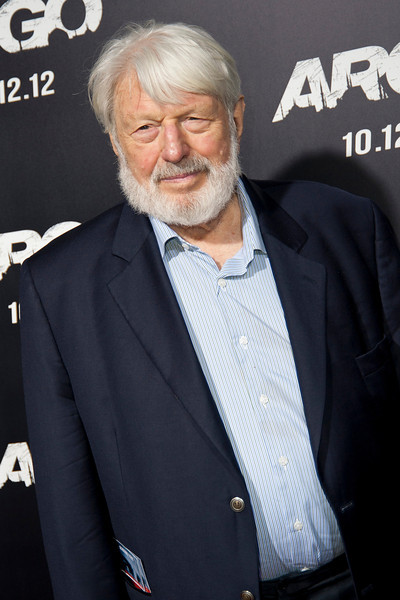 """BEVERLY HILLS, CA - OCTOBER 04: Actor Theodore Bikel arrives at the premiere of Warner Bros. Pictures' """"Argo"""" at AMPAS Samuel Goldwyn Theater onThursday, October 4, 2012 in Beverly Hills, California. (Photo by Tom Sorensen/Moovieboy Pictures)"""