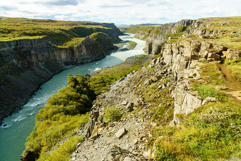 The beautiful river canyon downstream of Gullfoss near Reykjavik, Iceland.