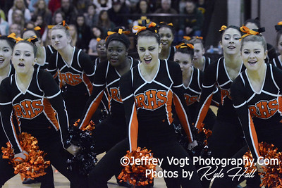 1-31-2015 Rockville HS Varsity Poms at Northwest HS Invitational, MCPS Championship, Photos by Jeffrey Vogt Photography with Kyle Hall
