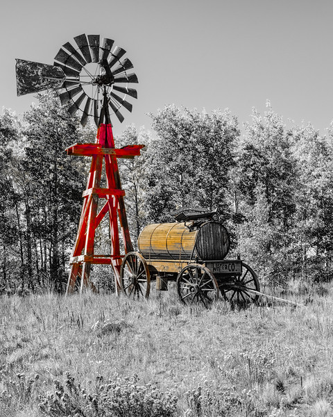 Windmill and Water Wagon