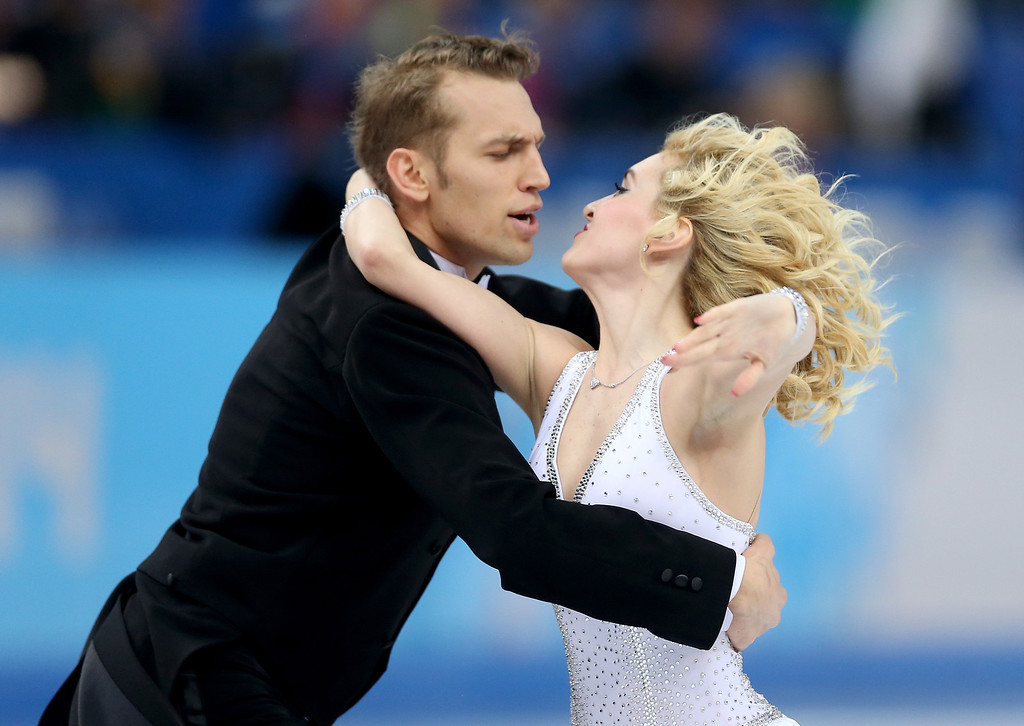 . Isabella Tobias and Deividas Stagniunas of Lithuania compete during the Figure Skating Ice Dance Short Dance on day 9 of the Sochi 2014 Winter Olympics at Iceberg Skating Palace on February 16, 2014 in Sochi, Russia.  (Photo by Matthew Stockman/Getty Images)