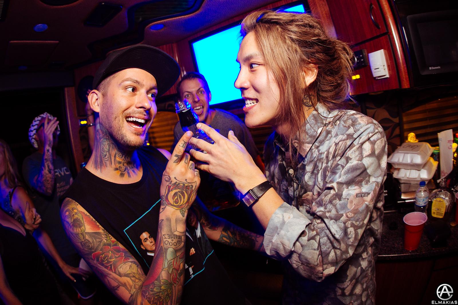 Party bus at Vans Warped Tour 2015 by Adam Elmakias