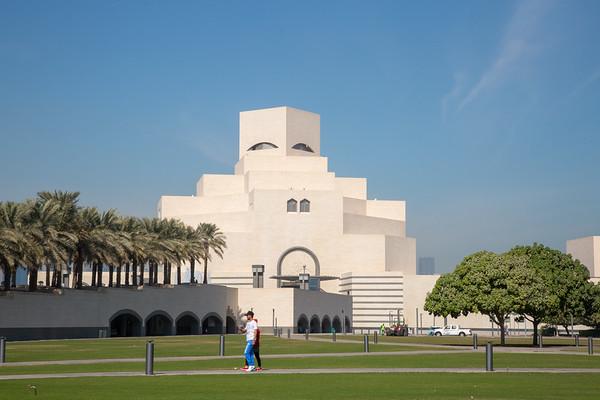 Doha the capital city of Qatar - December, 2017