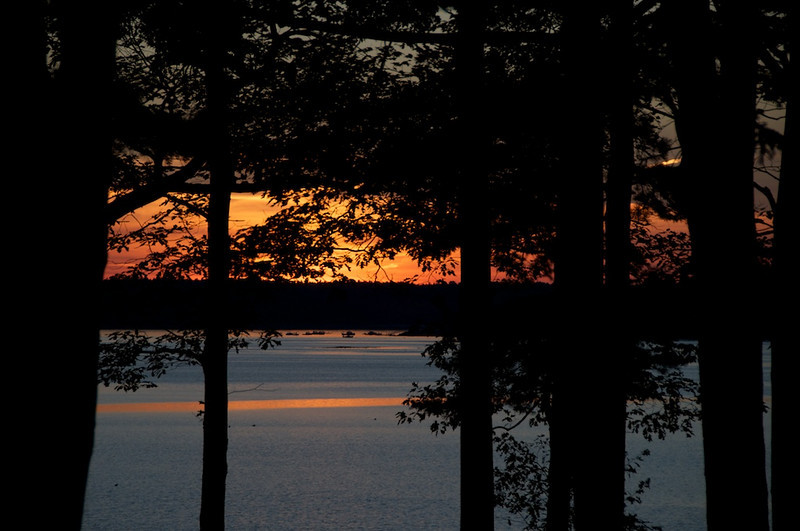 Sunset at Emery's cabins