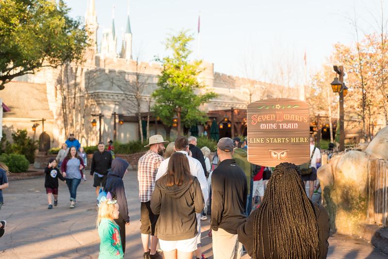 Long Line for Mine Train - Magic Kingdom Walt Disney World
