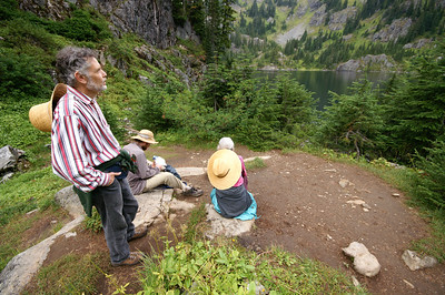Hiking with Colin and our parents - September '07
