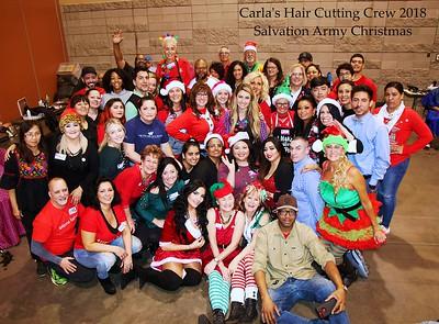 Carla's Christmas Hair Cutting Crew 2018