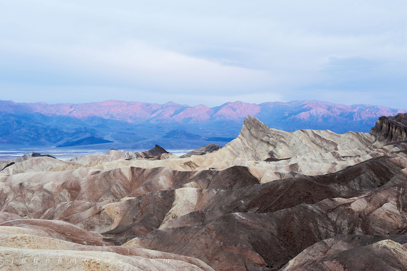 Manly Beacon in Death Valley National Park at sunrise