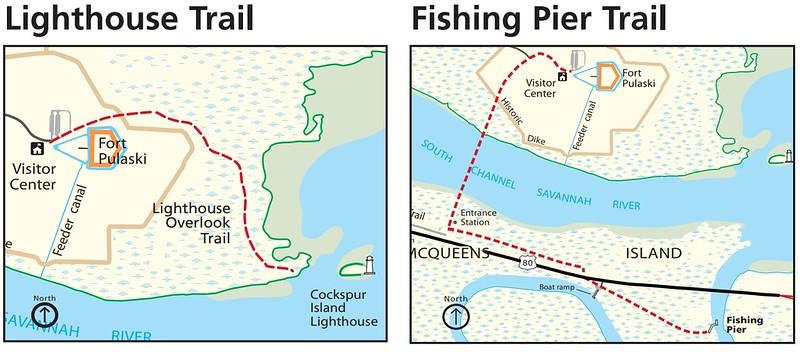 Fort Pulaski National Monument (Lighthouse & Fishing Pier Trails)