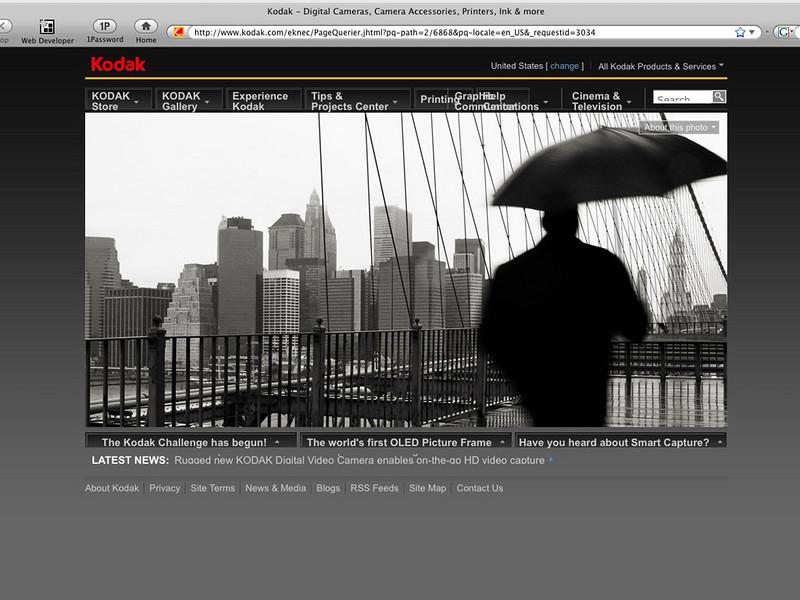 January 2009 - Featured on Kodak's Homepage