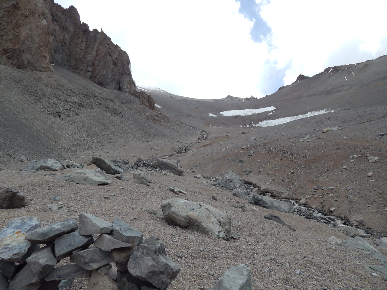 View from Camp 1 towards Camp 2