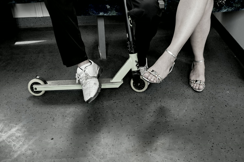 Feet on the train