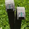 Art Deco Diamond and Emerald Disc Earrings 4