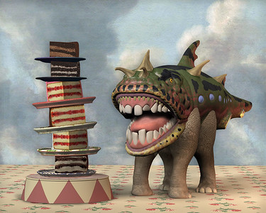 """""""Temptation"""" (pigment ink on paper) by Don Bergland"""
