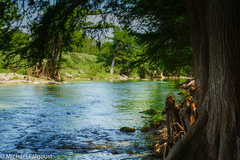 Shady spot on the Guadalupe River