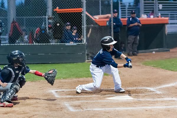 Roseville West Little League Major Tigers vs Red Sox 4-3-14