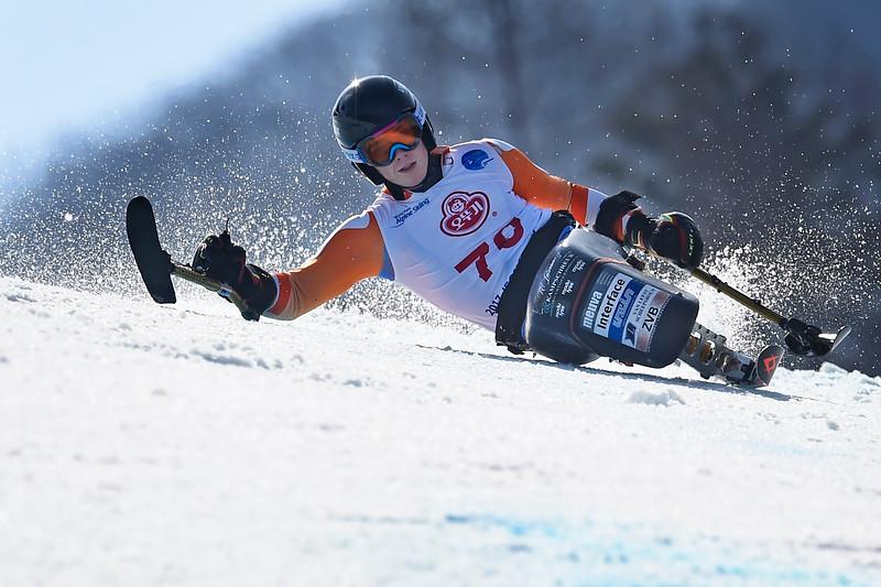 17-3-2017 SKIEN: 2017 WORLD PARA SKIEN WORLD CUP FINALS: PYEONGCHANG Zilver voor Jeroen Kampschreur. GIant slalom. Foto: Mathilde Dusol