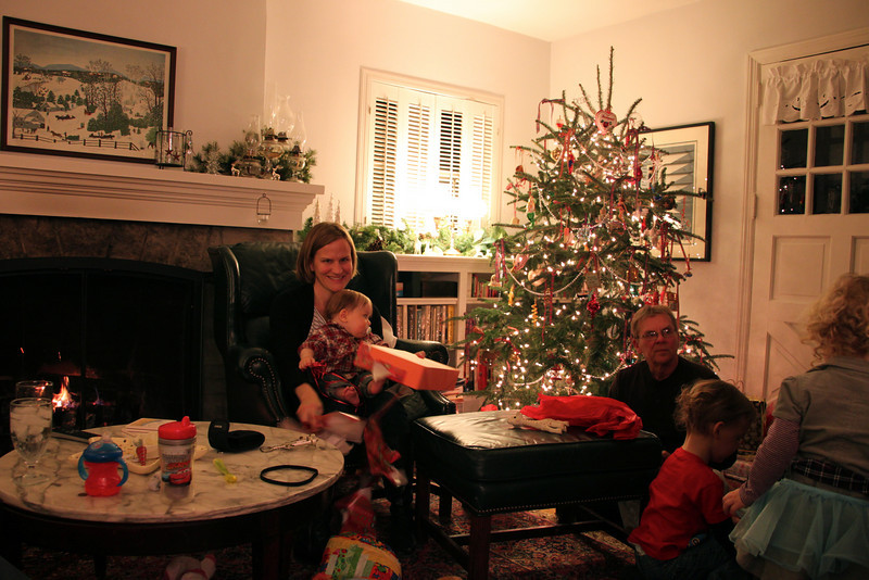 At Aunt Cheryl's house on Xmas Day.