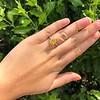 3.00ct Yellow Orange Sapphire Solitaire 11