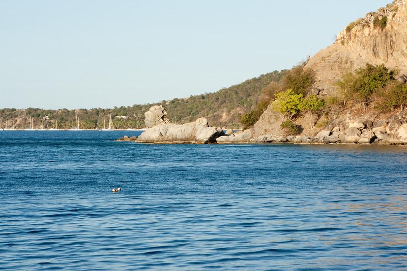 Sphinx rock near Salt Island.