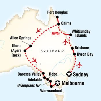 December 2013 Australia Route