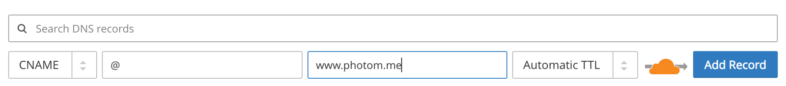 Pointing naked domain to www CNAME record of your domain for SmugMug