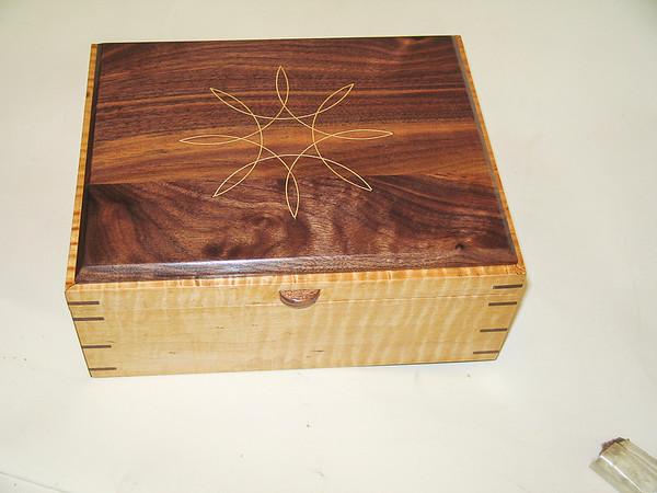 Walnut Maple Box with Holly Inlay