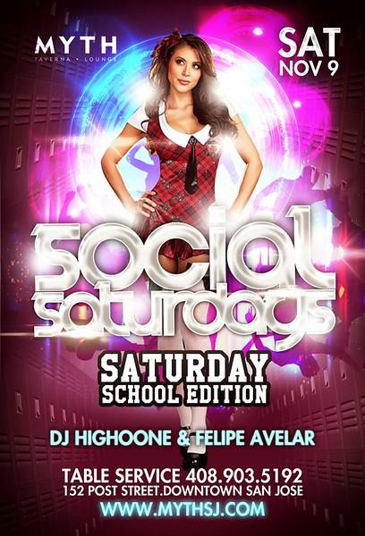 Social Saturdays @ Myth Taverna & Lounge 11.9.13