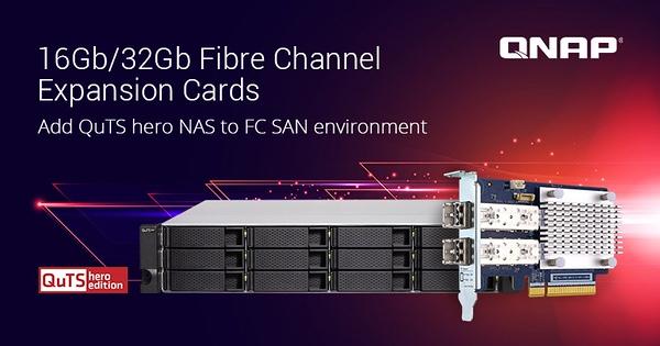 Placas de expansão Fibre Channel com suporte NAS QuTS hero